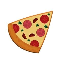 pizza slice icon vector image