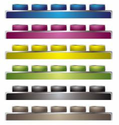 top interface vector image vector image