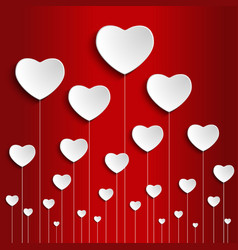 valentines day and wedding background vector image
