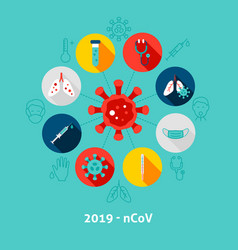 2019 ncov concept icons vector image