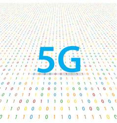 5g symbol of wireless internet on a digital vector