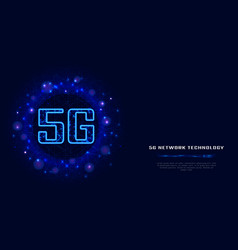 5g wireless internet wifi connection with digital vector image
