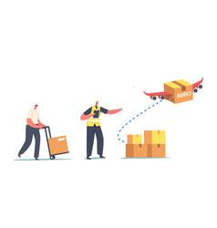 aircraft transport logistics service import vector image