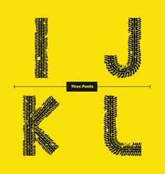 alphabet celtic golden style in a set ijkl vector image