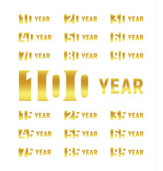 anniversary company gold negative space sign vector image