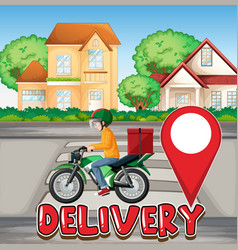 bike man or courier riding in city vector image