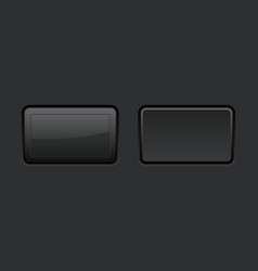 Black square push buttons vector