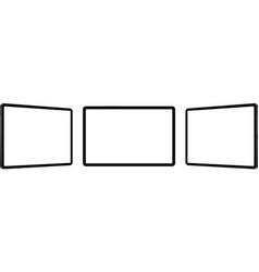 Black tablet computers mockups vector