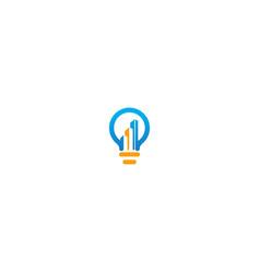 building idea lightbulb logo vector image