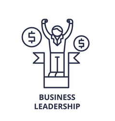 business leadership line icon concept business vector image