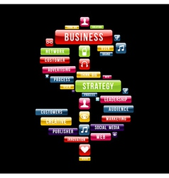 Business strategy money sign vector image vector image
