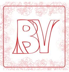 BV monogram vector image