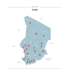 Chad map with red pin vector