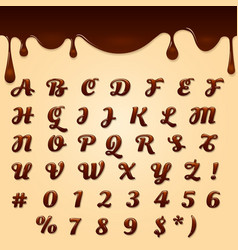Chocolate made text vector