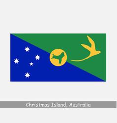 Christmas island australia flag vector