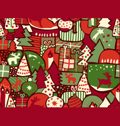 christmas seamless modern background vector image