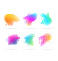 color spots with abstract memphis style elements vector image