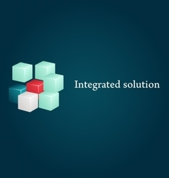 Conceptual image integrated solution vector