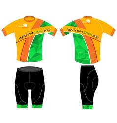Cycling sports shirt vector image