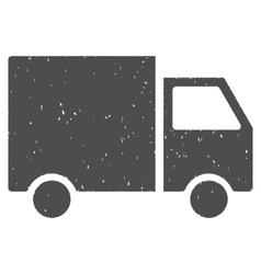 Delivery Van Icon Rubber Stamp vector