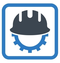 Development Hardhat Flat Icon vector image