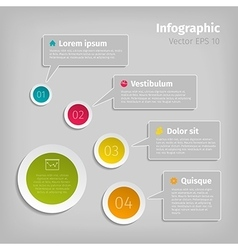 digital infographic vector image