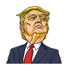 Donald trump the president of the united states vector