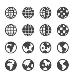 Earth icon set vector