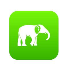 elephant icon green vector image