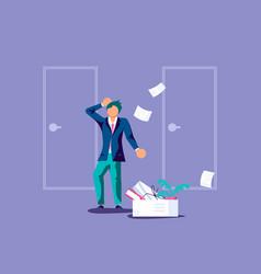 Employee job reduction metaphor vector