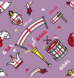 England soccer supporter gear seamless pattern vector