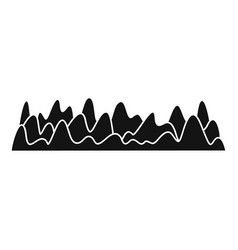 equalizer sound vibration icon simple black style vector image