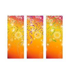 Falling color confetti on stripes vector