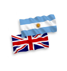 Flags great britain and argentina on a white vector