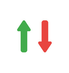 Flat design style concept of two arrows pointing vector