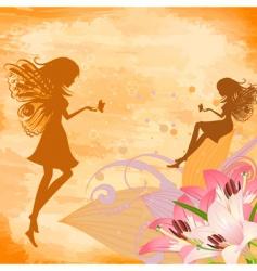 Flower fairies vector