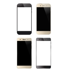 Four black and white smartphones vector image
