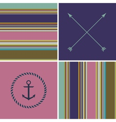 Geometric color hipster striped pattern background vector