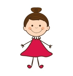 girl child icon image vector image