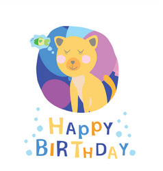 greeting card cat vector image