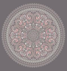 Hand drawn round ornate rosette vector