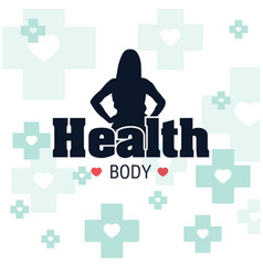 healthy body blue cross background image vector image