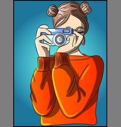 hob a photographer woman vector image