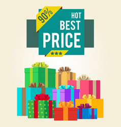 hot best price discounts super final total 90 sale vector image