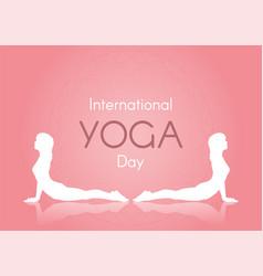 International day yoga background vector