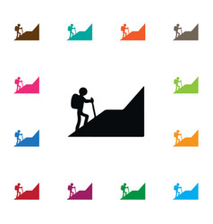 isolated climber icon alpinist element can vector image