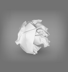 Isolated crumpled or scrunched paper ball vector