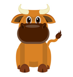 isolated cute bull vector image