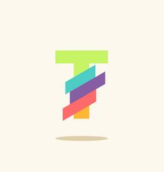 Letter t logo icon design template elements vector