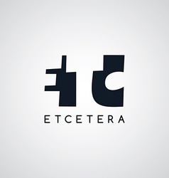 letter theme logotype vector image